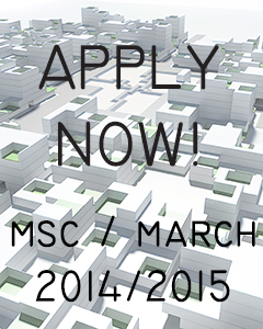 We are currently accepting applications for the 2014/2015 cohort for both MSc and MArch degrees. More...